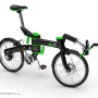 DKCity folding electric bicycle - folded stage 1