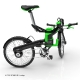 DKCity folding electric bicycle - folded stage 2