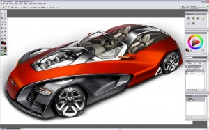 Design a Concept Car - Changing the Color - Step 2