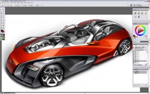 Design a Concept Car - Changing the Color - Step 3