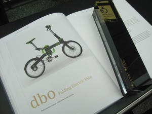 2011 Designpreis Award Ceremony - Designpreis award and presentation book for the db0 Folding Electric Bike.
