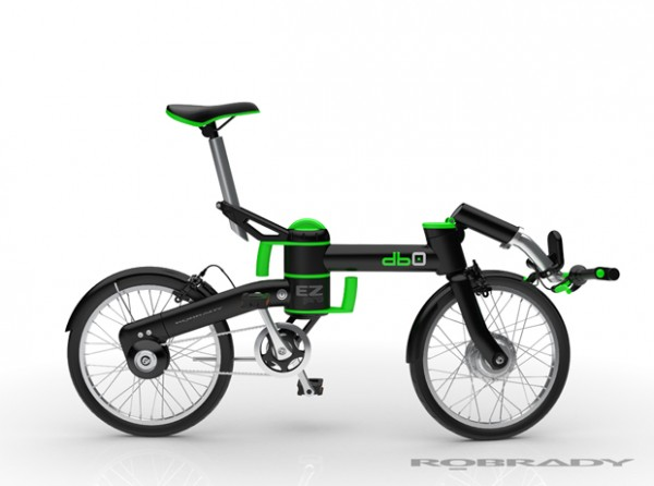 db0 electric folding bicycle Vray rendering